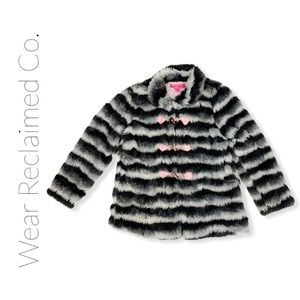 Girls BETSEY JOHNSON Faux Fur Jacket